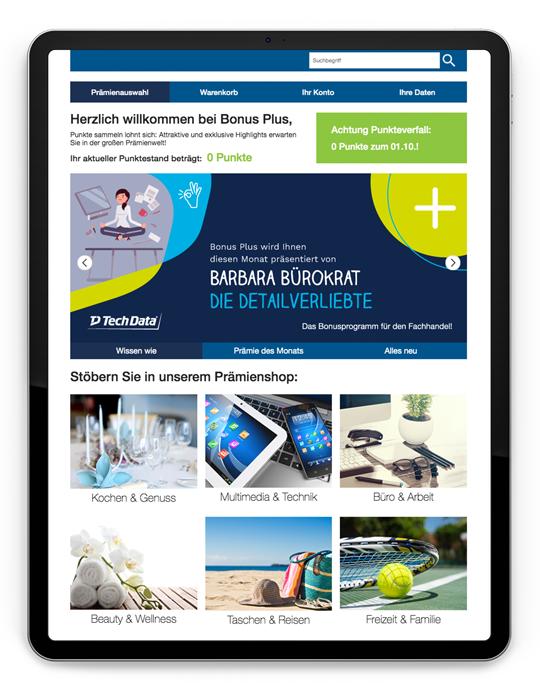 Bonus Plus Kampagne Mockup iPad 1