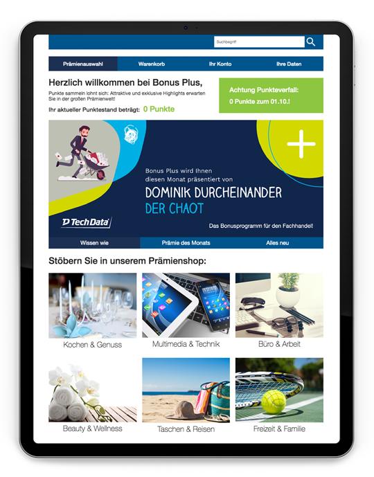 Bonus Plus Kampagne Mockup iPad 2