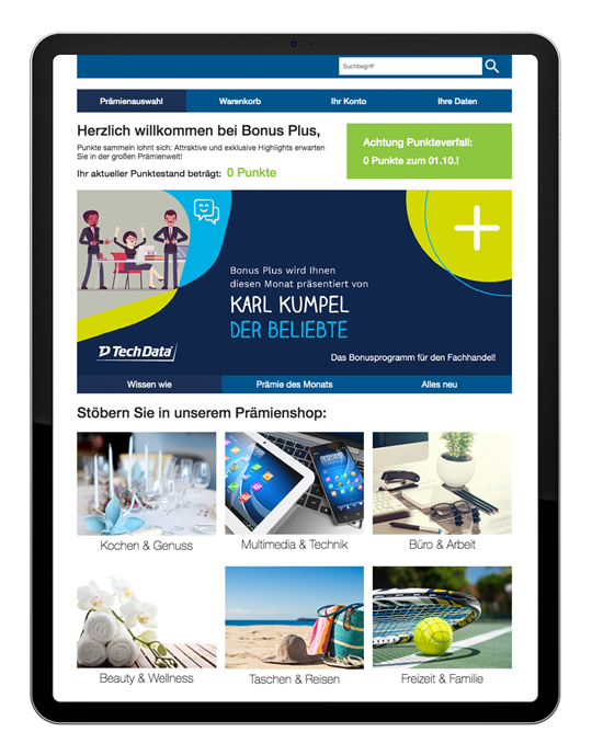 Bonus Plus Kampagne Mockup iPad 3