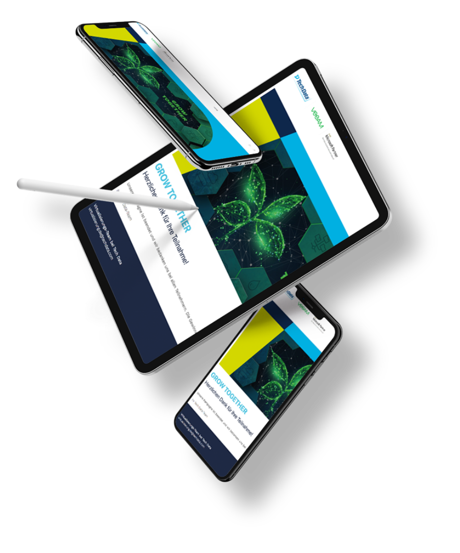 Mockup Devices Veeam-Kampagne Grow-Together